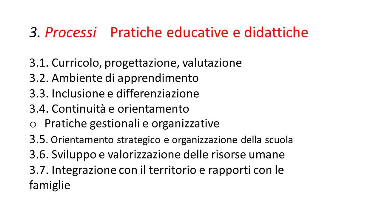 3. Processi Pratiche educative e didattiche