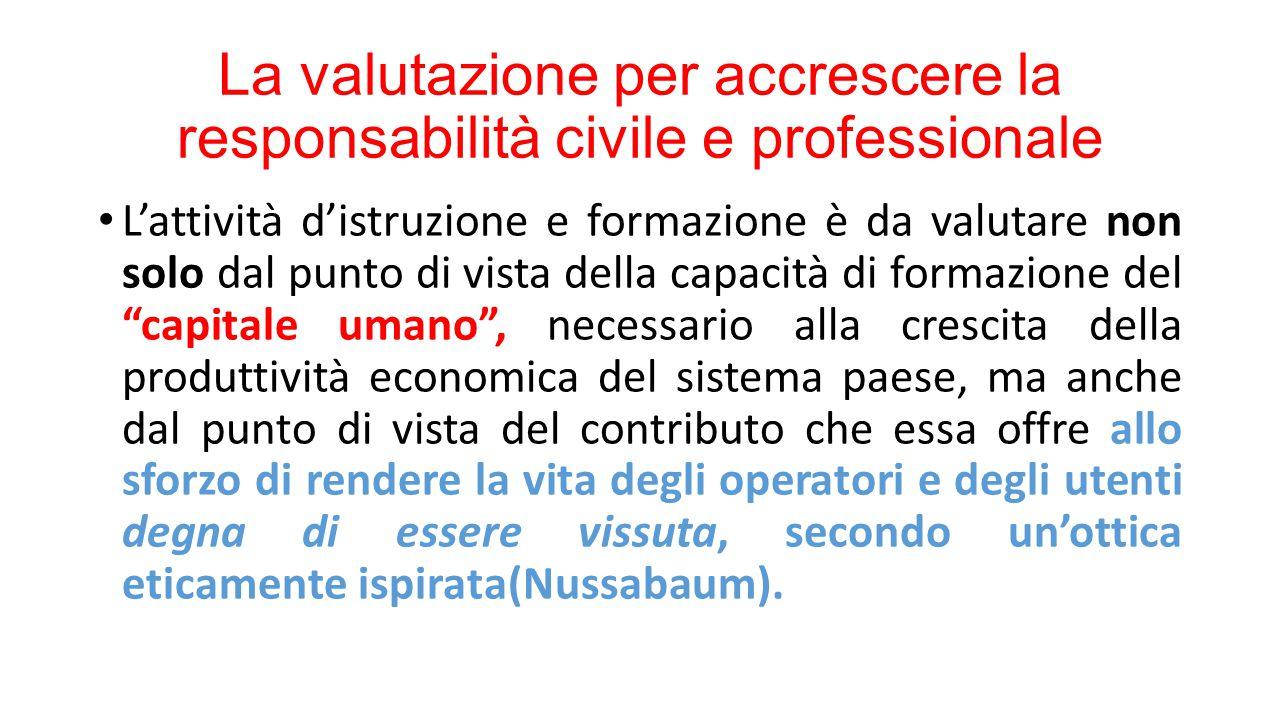 La valutazione per accrescere la responsabilità civile e professionale