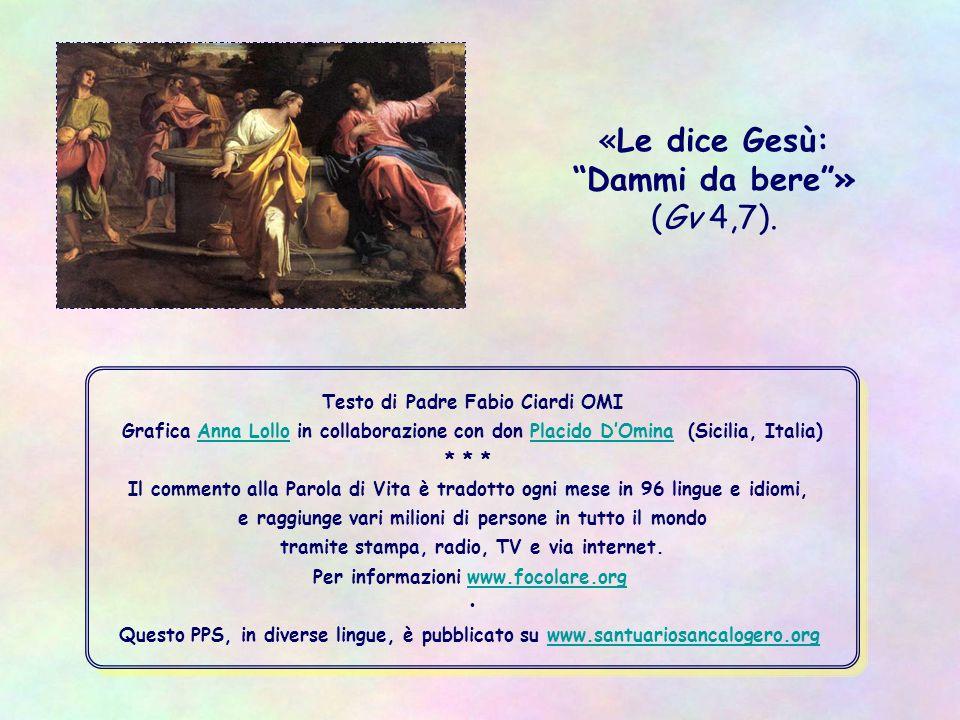 Testo di Padre Fabio Ciardi OMI