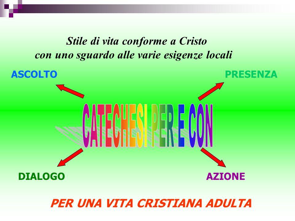 CATECHESI PER E CON Stile di vita conforme a Cristo