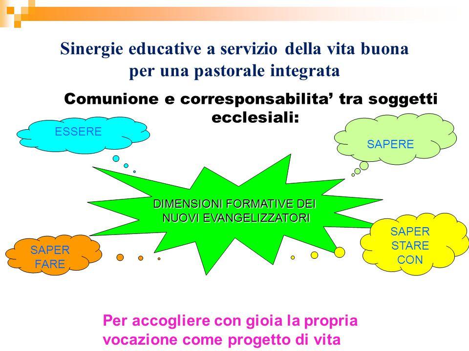 Sinergie educative a servizio della vita buona per una pastorale integrata