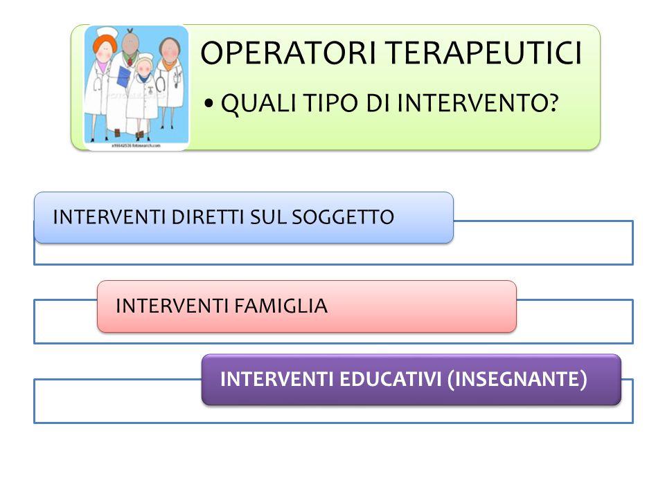 OPERATORI TERAPEUTICI