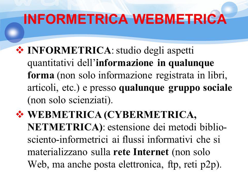 INFORMETRICA WEBMETRICA