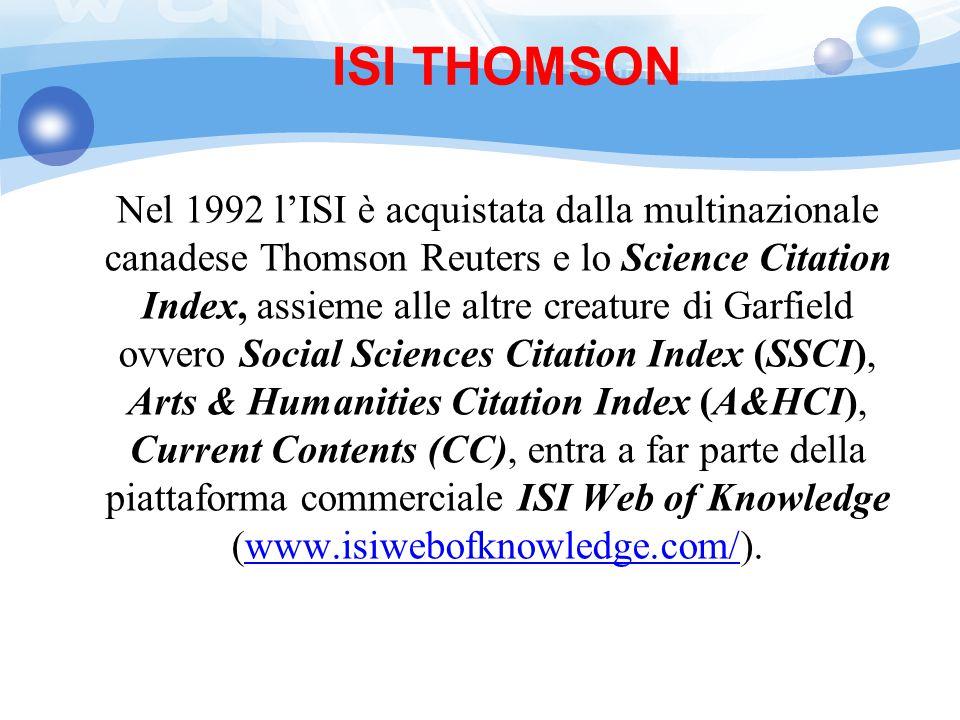 ISI THOMSON