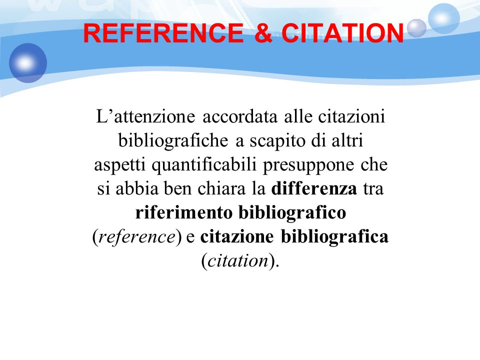 REFERENCE & CITATION
