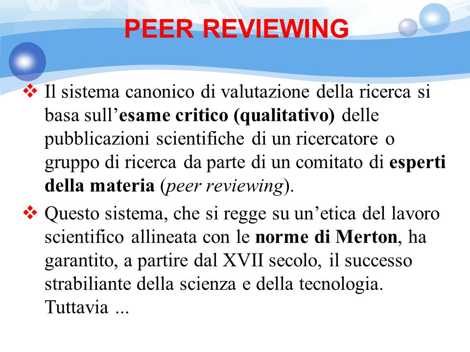 PEER REVIEWING