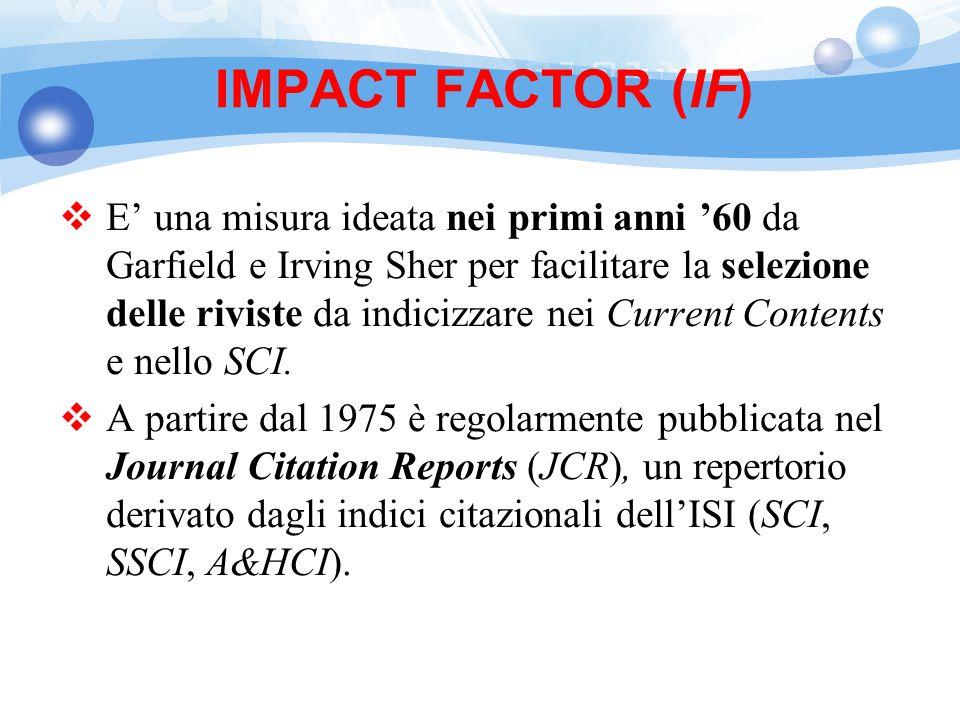 IMPACT FACTOR (IF)