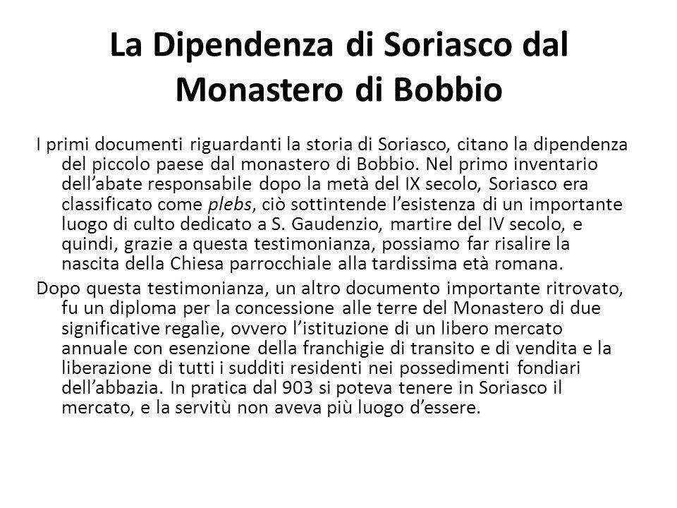 La Dipendenza di Soriasco dal Monastero di Bobbio