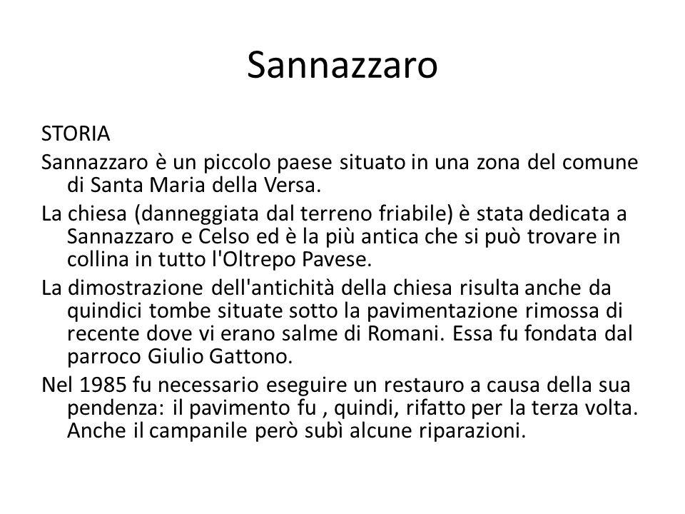 Sannazzaro STORIA. Sannazzaro è un piccolo paese situato in una zona del comune di Santa Maria della Versa.
