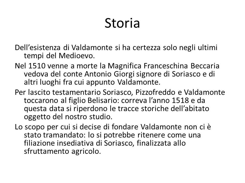 Storia Dell'esistenza di Valdamonte si ha certezza solo negli ultimi tempi del Medioevo.