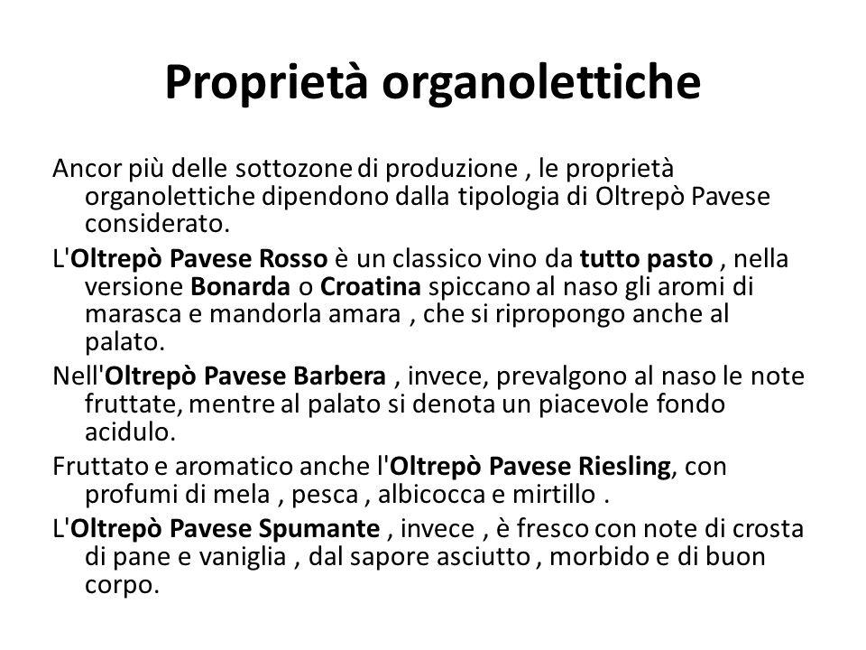Proprietà organolettiche