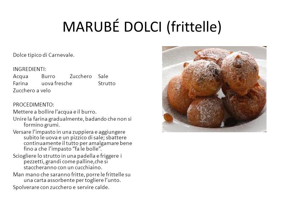 MARUBÉ DOLCI (frittelle)