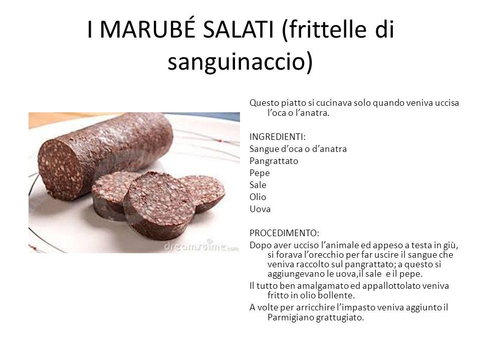 I marubÉ salati (frittelle di sanguinaccio)