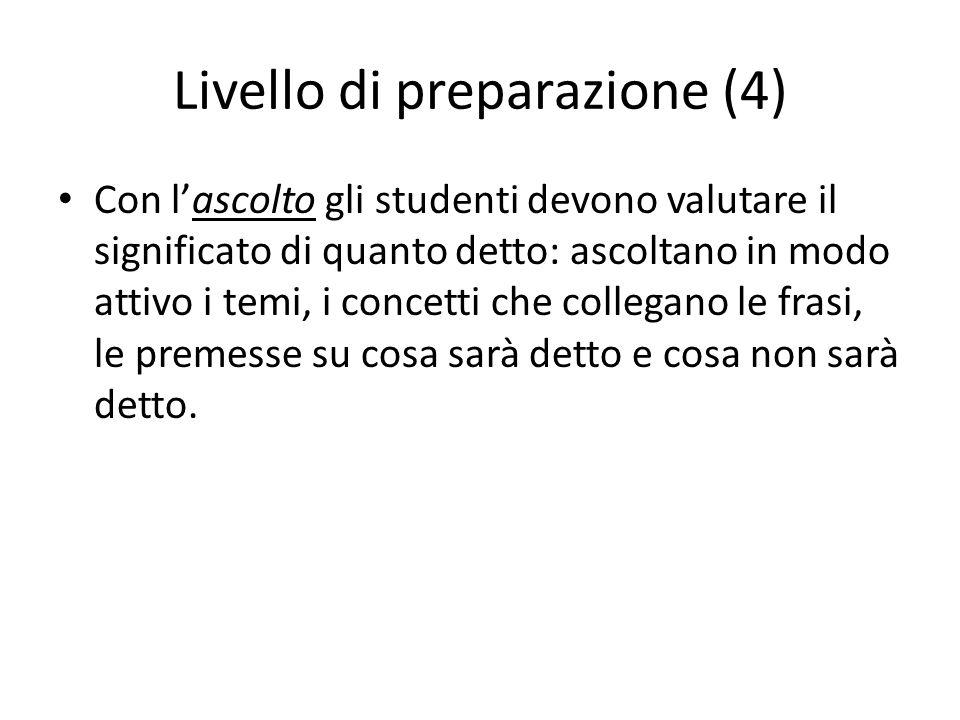 Livello di preparazione (4)