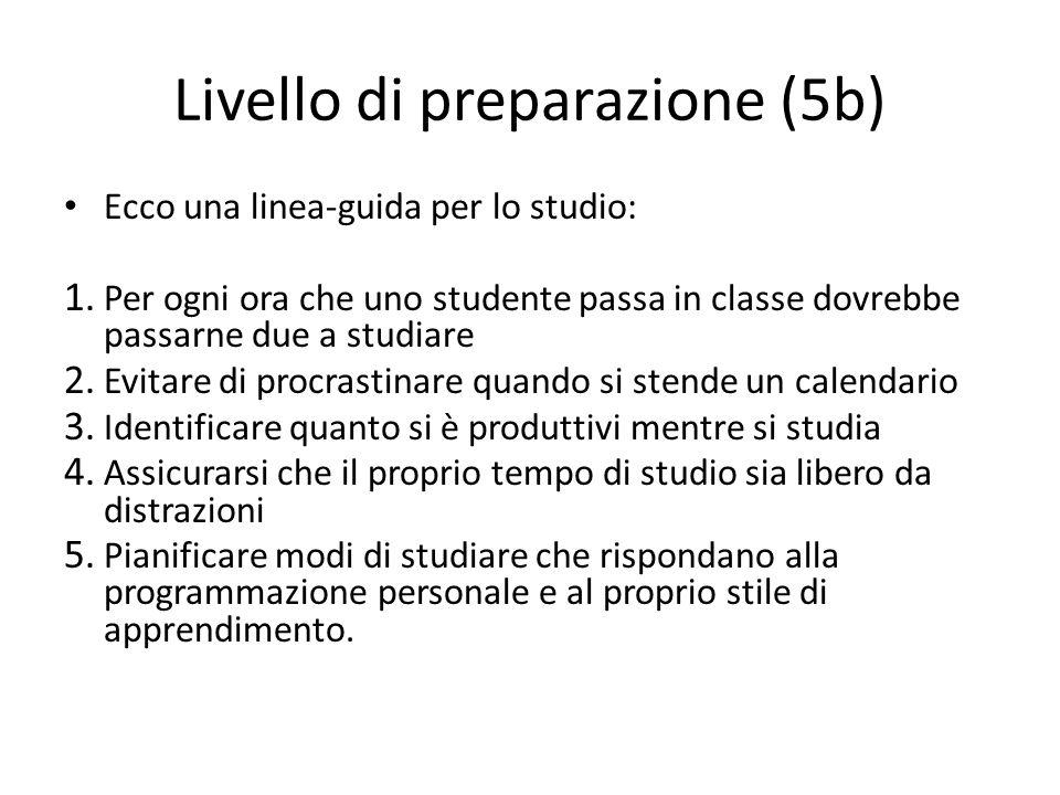 Livello di preparazione (5b)