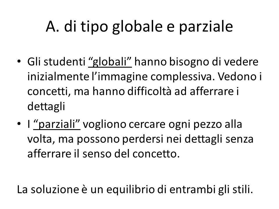 A. di tipo globale e parziale