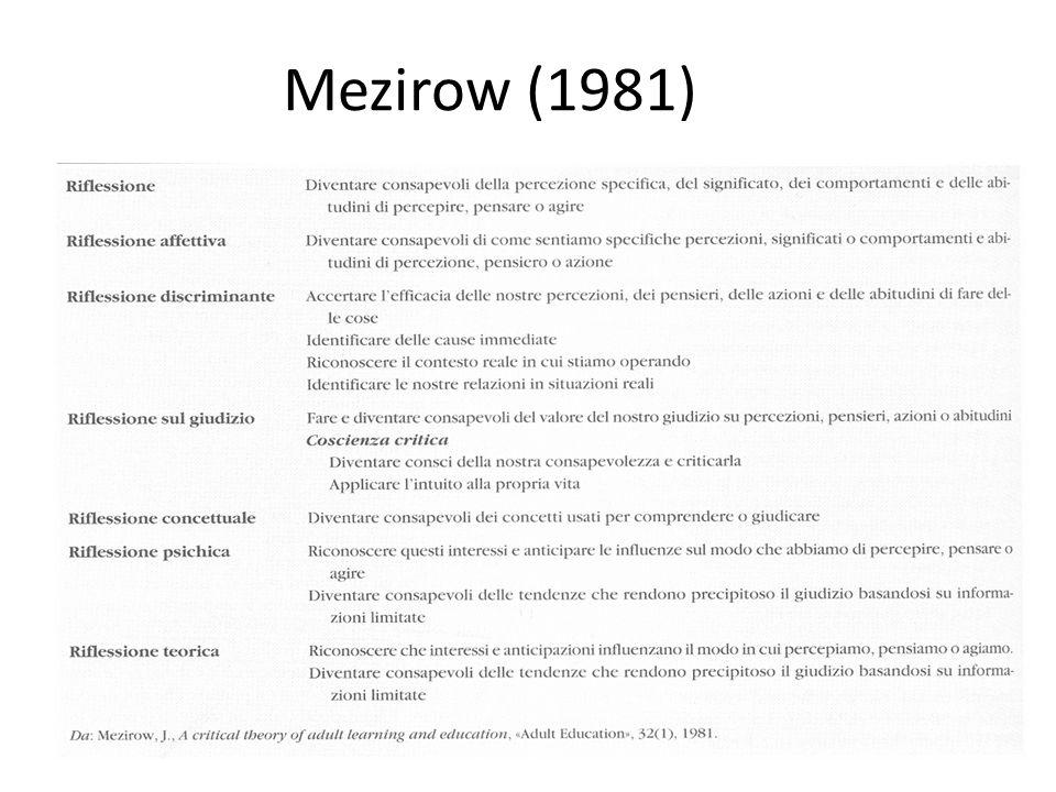 Mezirow (1981)