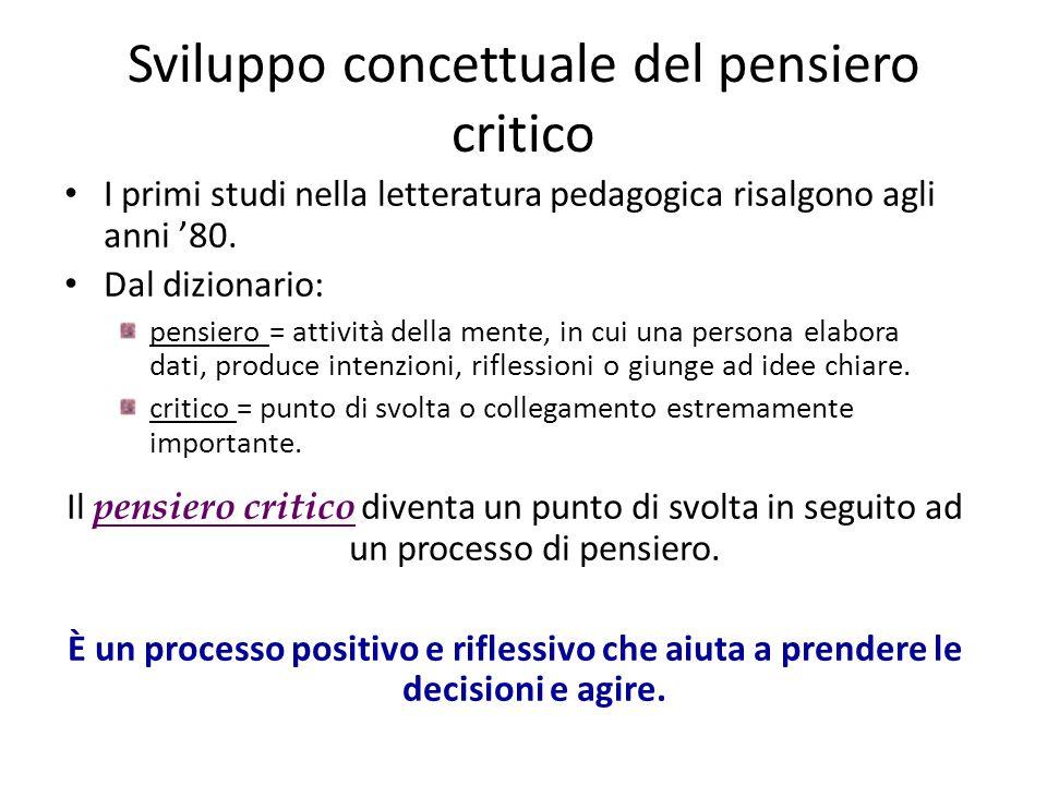 Sviluppo concettuale del pensiero critico