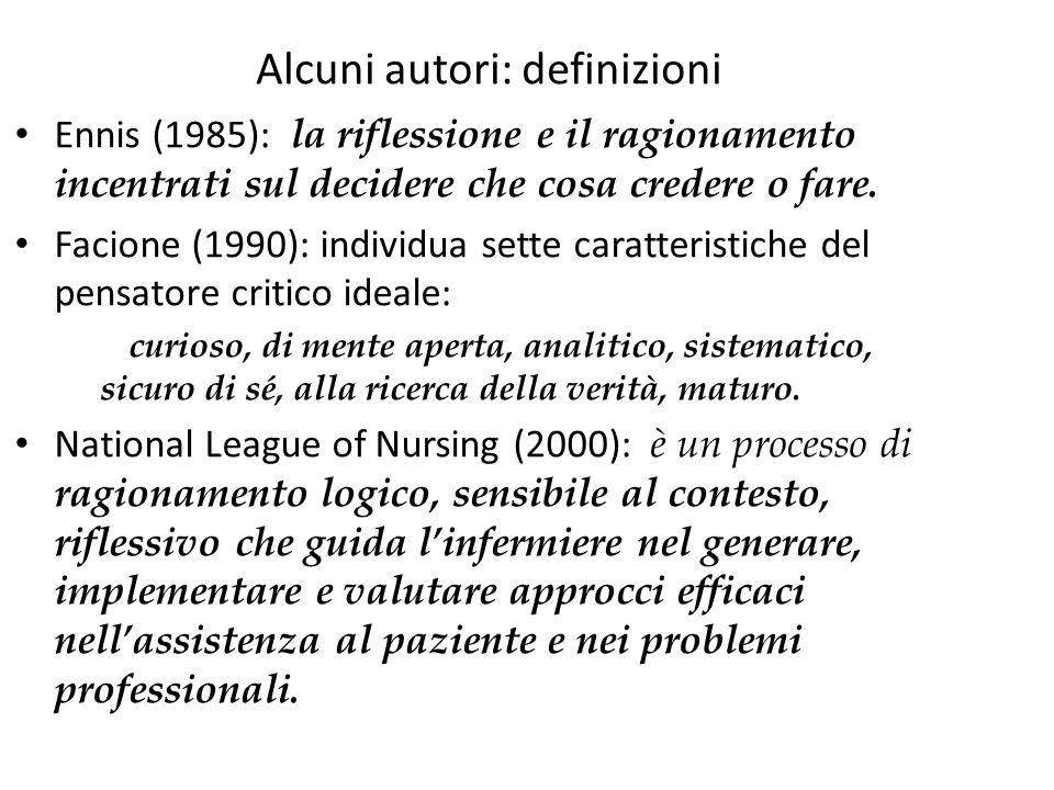 Alcuni autori: definizioni
