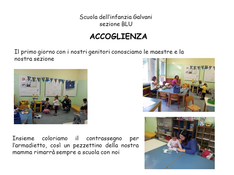 Scuola dell'infanzia Galvani sezione BLU