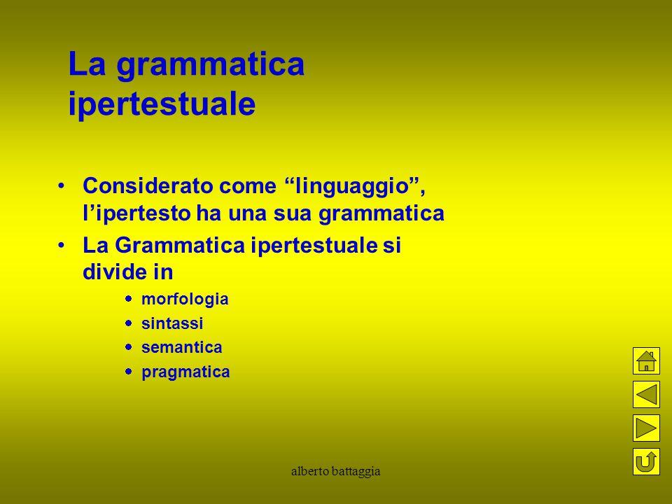 La grammatica ipertestuale
