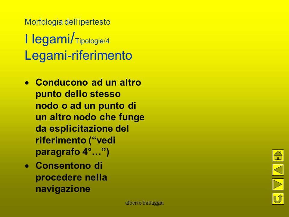 Morfologia dell'ipertesto I legami/Tipologie/4 Legami-riferimento
