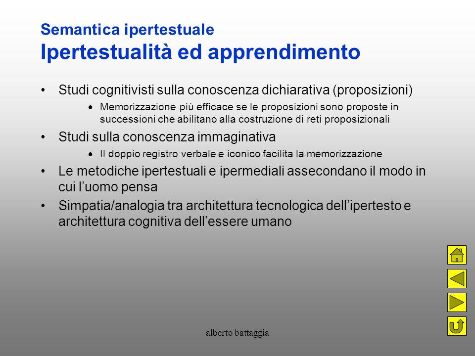 Semantica ipertestuale Ipertestualità ed apprendimento