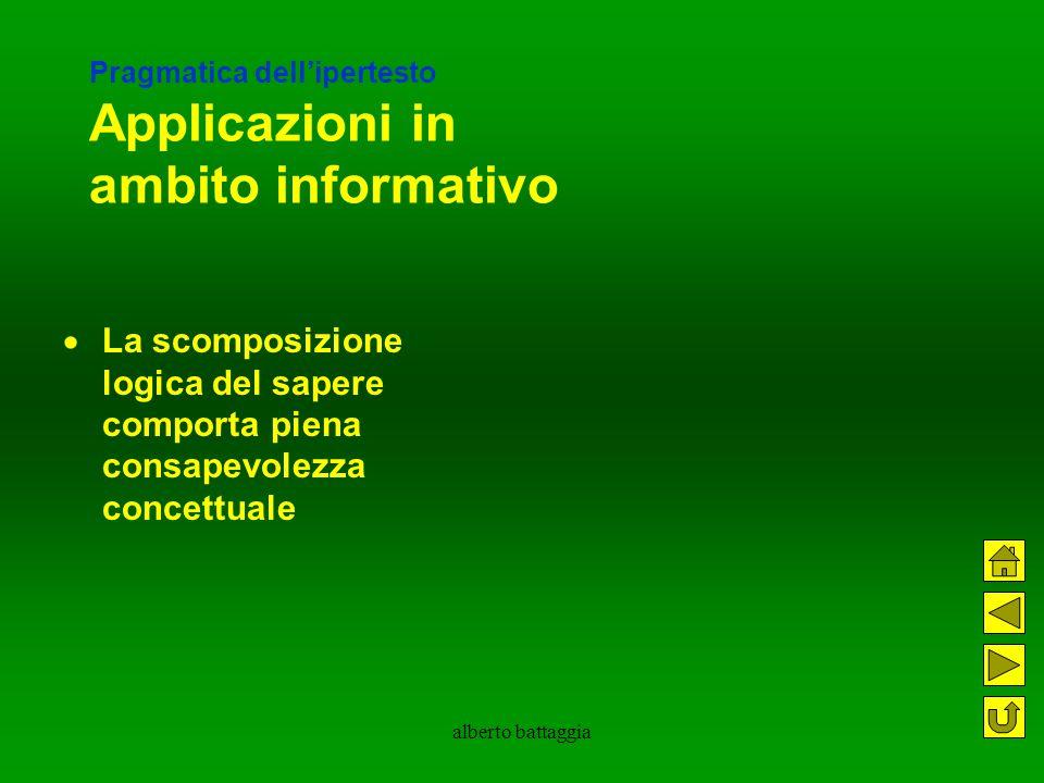 Pragmatica dell'ipertesto Applicazioni in ambito informativo