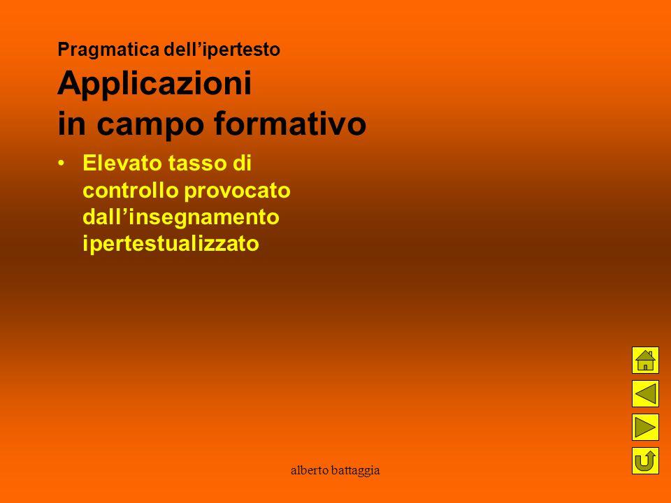 Pragmatica dell'ipertesto Applicazioni in campo formativo