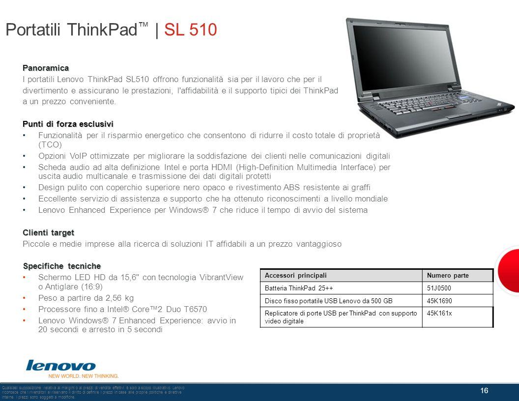 Portatili ThinkPad™ | SL 510