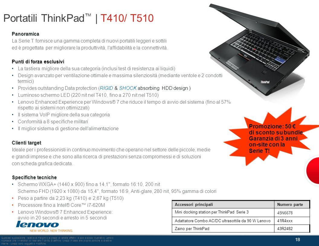 Portatili ThinkPad™ | T410/ T510