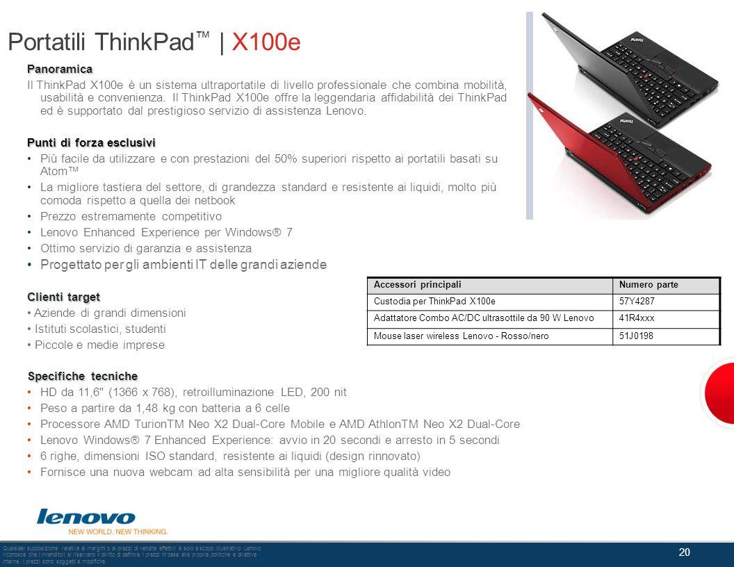 Portatili ThinkPad™ | X100e