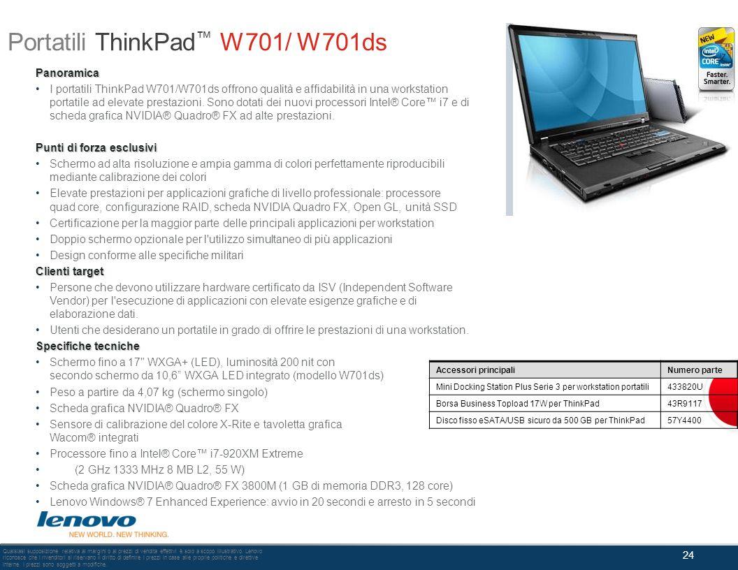 Portatili ThinkPad™ W701/ W701ds