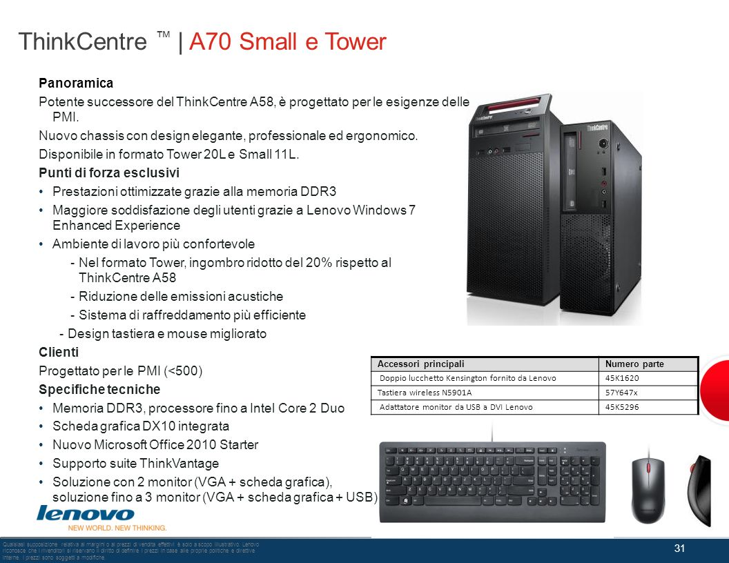 ThinkCentre ™ | A70 Small e Tower