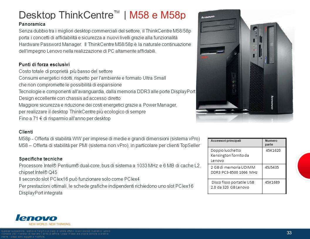 Desktop ThinkCentre™ | M58 e M58p