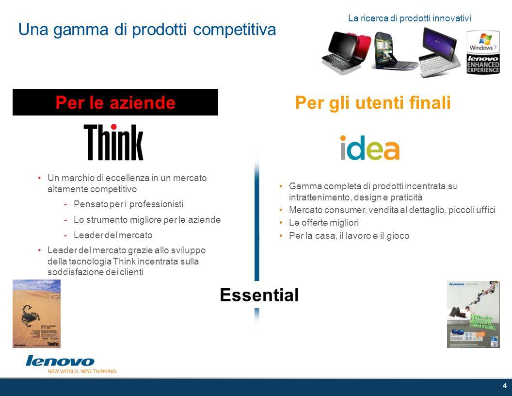 Una gamma di prodotti competitiva