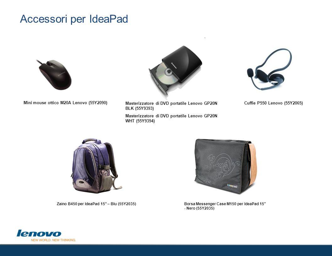 Accessori per IdeaPad 53 Mini mouse ottico M20A Lenovo (55Y2090)
