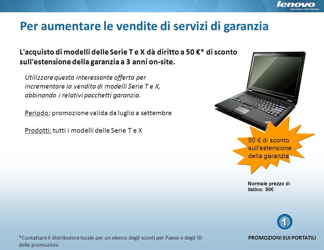 1 Per aumentare le vendite di servizi di garanzia