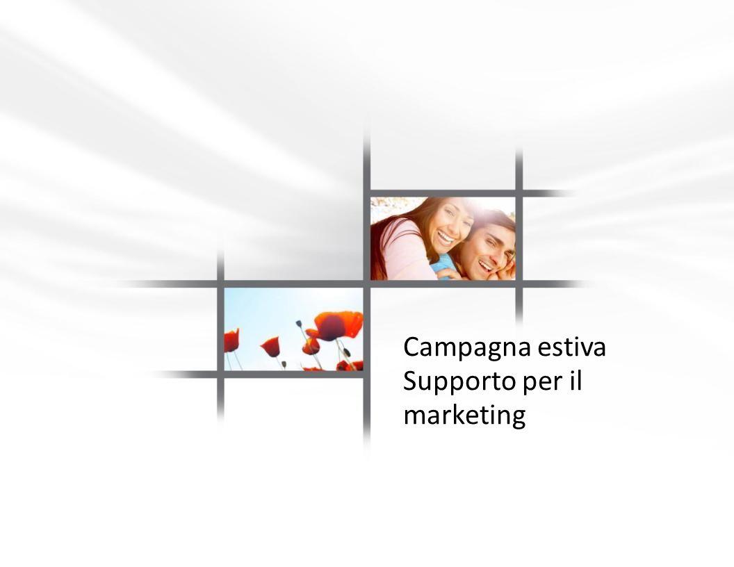 Campagna estiva Supporto per il marketing