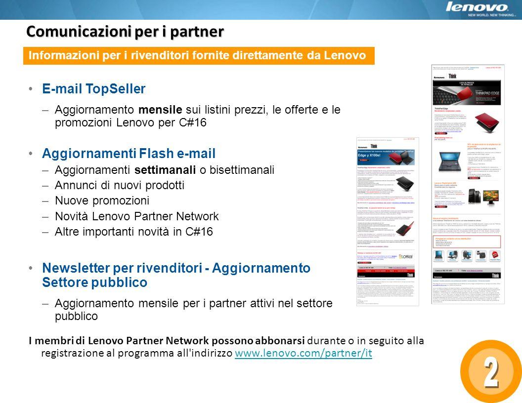 Comunicazioni per i partner
