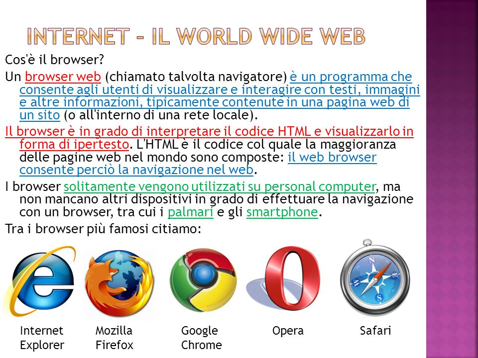 Internet – il world wide web