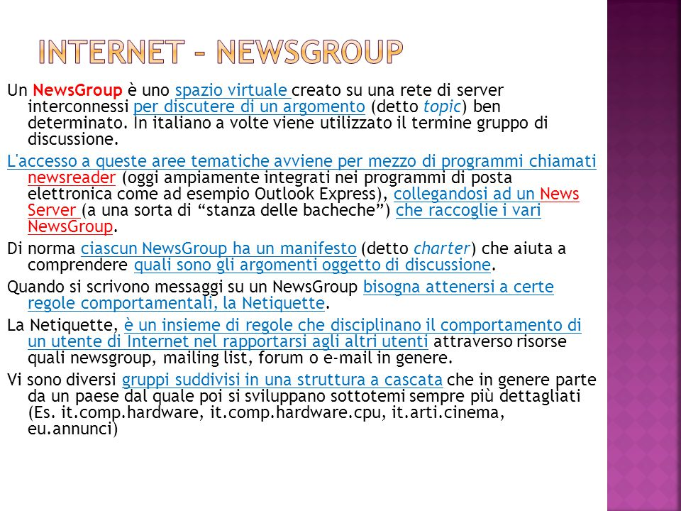 Internet – newsgroup