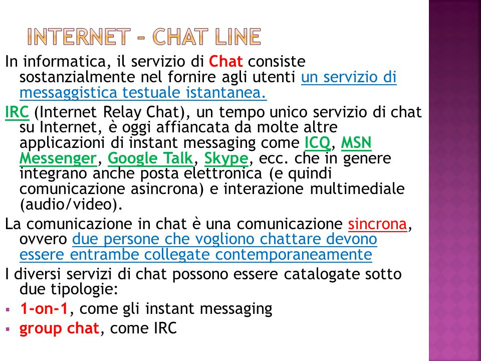 INTERNET – CHAT LINE