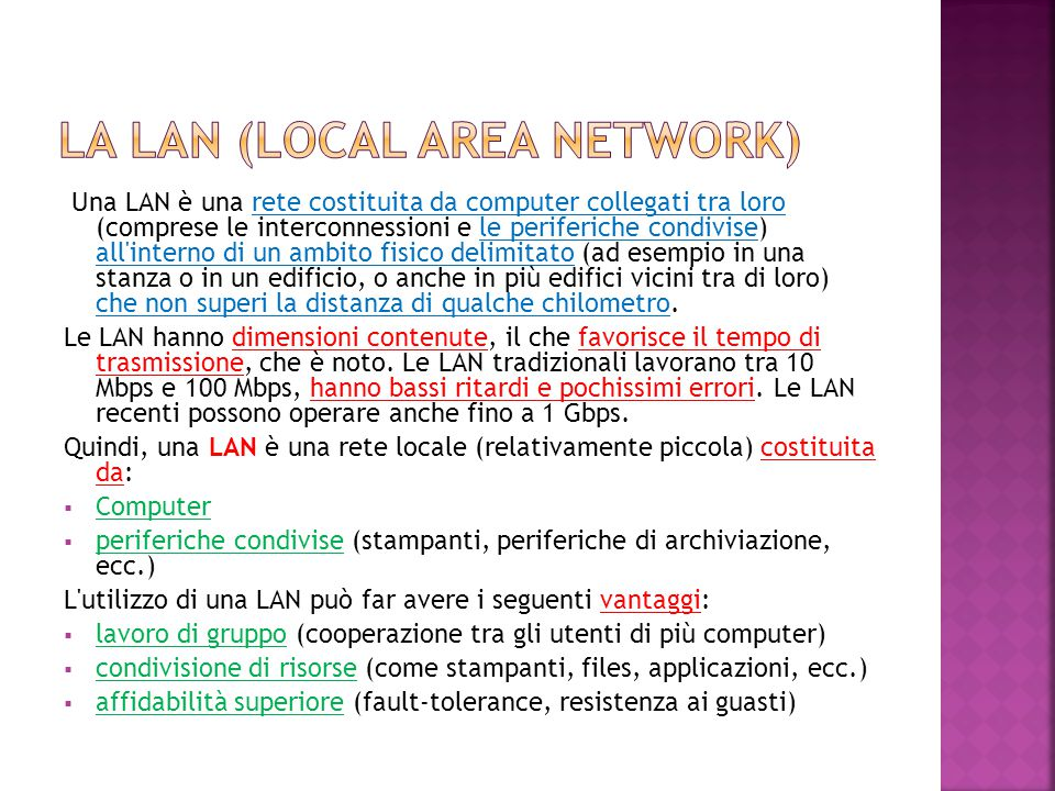 La lan (local area network)