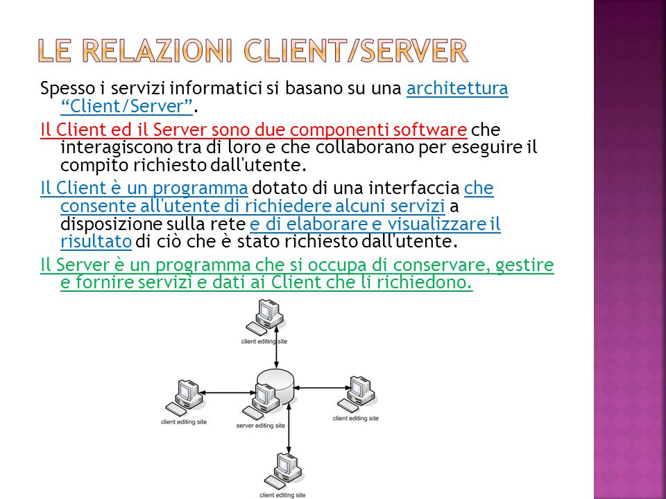 Le relazioni client/server