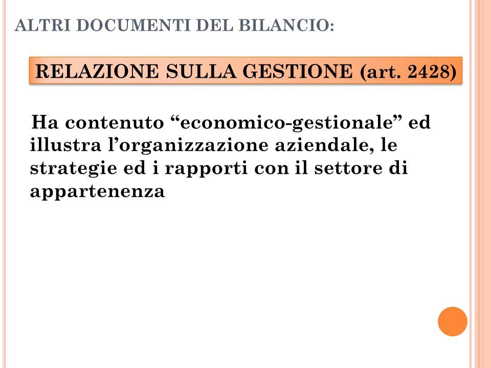 ALTRI DOCUMENTI DEL BILANCIO: