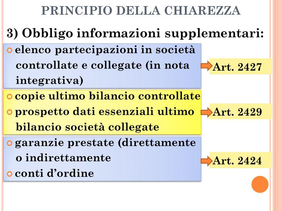 PRINCIPIO DELLA CHIAREZZA