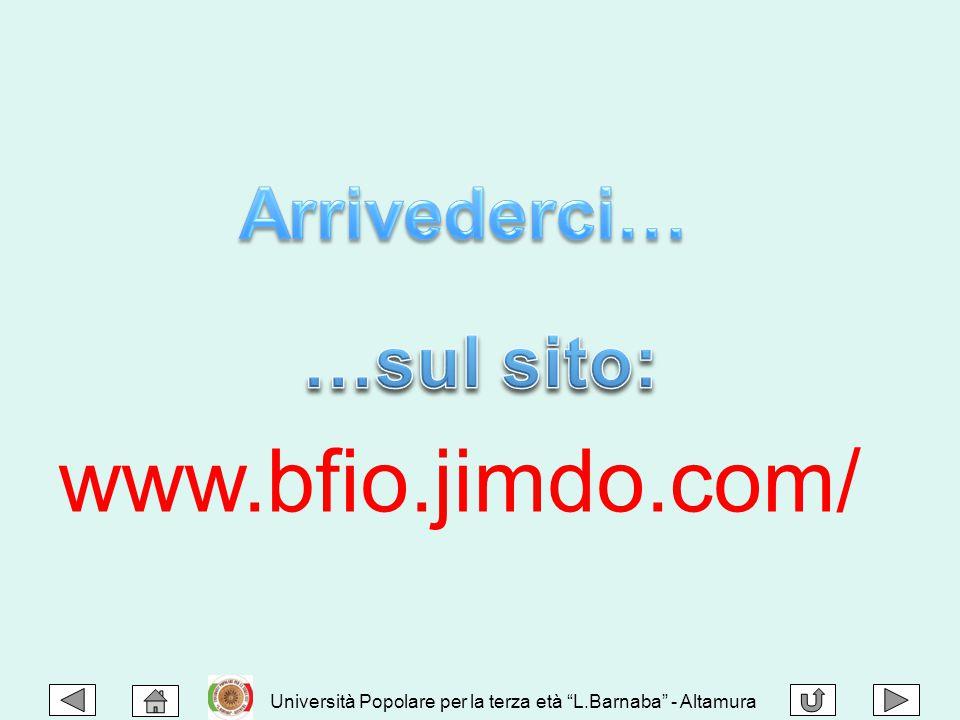 www.bfio.jimdo.com/ Arrivederci… …sul sito: