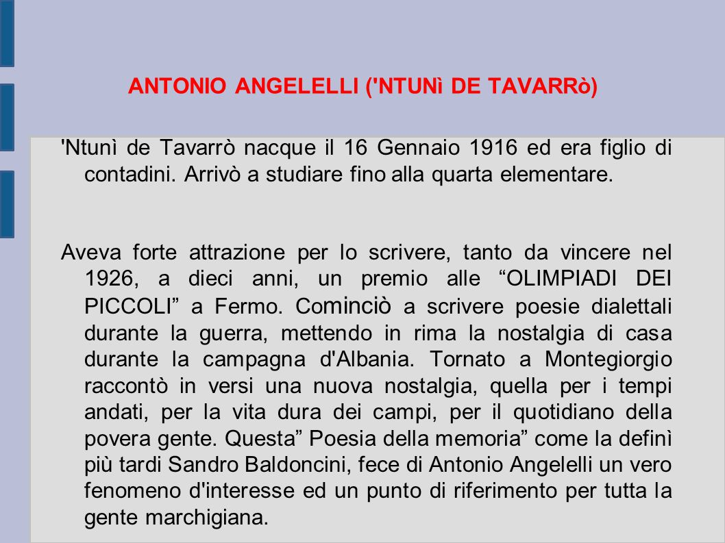 ANTONIO ANGELELLI ( NTUNì DE TAVARRò)