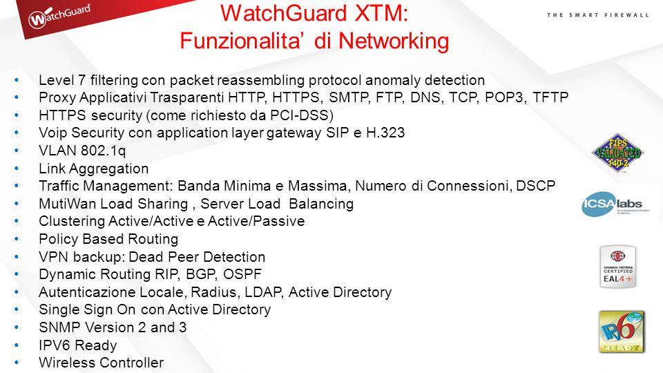 WatchGuard XTM: Funzionalita' di Networking